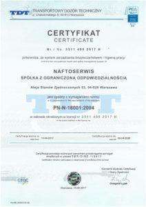 Certyfikat PN N 180012004