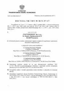 naftoserwis.pl decyzja udt uc 27 195 w 1 12 decyzja tdt w m n 97 17 1