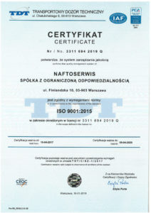1. certyfikat 9001 z PCA-2019