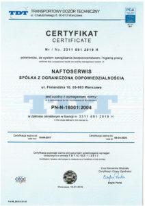 3. certyfikat 18001-2019