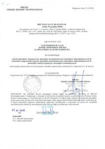 Decyzja UDT nr UC-03-213-P5-18