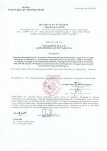 Decyzja UDT nr UC-27-195-N8-19