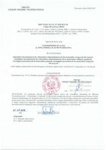 Decyzja UDT nr UC-27-195-W2-19