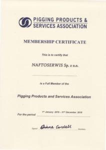 Naftoserwis Sp. z o.o. PPSA certifcate 2019