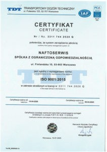 certificate 9001 with PCA