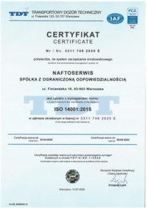 certyfikat 14001 z PCA