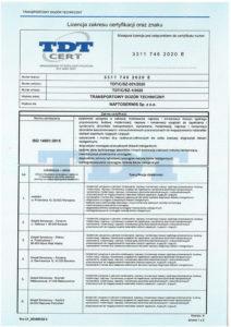 licencja 14001 z PCA 1/2