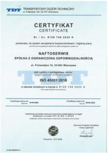 certyfikat 45001