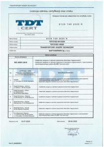 licencja 45001