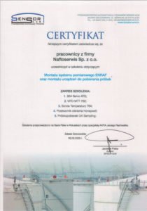 Certyfikat SENSOR