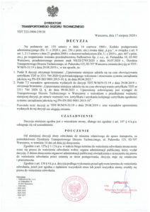 Decision TDT no TDT-W/M/N-51/19 - extension to 09/04/2023