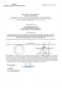 Decyzja UDT nr UC-03-213-P/5-18 1/6