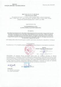 Decyzja UDT nr UC-27-195-N/8-19
