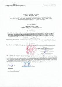 Decyzja UDT nr UC-27-195-P/8-19 1/5