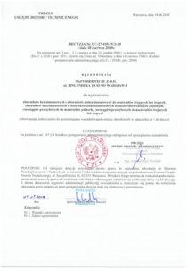 Decision UDT no UC-27-195-W/2-19 1/4