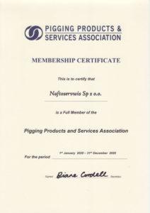 Naftoserwis Sp. z o.o. PPSA certifcate 2020