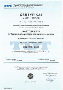 certyfikat 22301