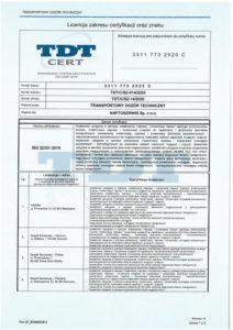licencja na certyfikat 22301 1/2