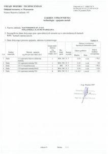 Decyzja UTD Nr UC-27-195-P/9-20 - Zakres uprawnienia 2/2