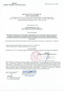 Decyzja UTD Nr UC-27-195-W/3-20