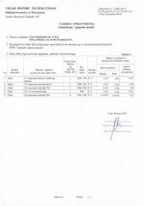 Decyzja UTD Nr UC-27-195-W/3-20 - Zakres uprawnienia 2/2